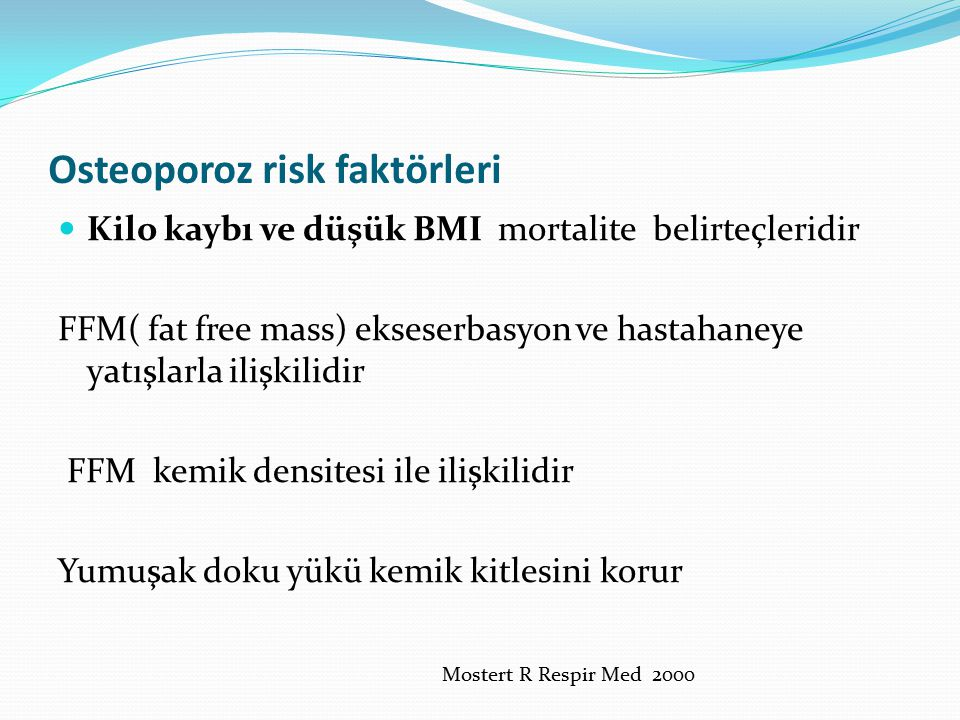 Osteoporoz risk faktörleri