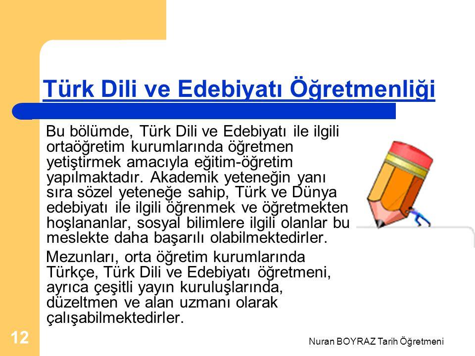 Türk Dili ve Edebiyatı Öğretmenliği