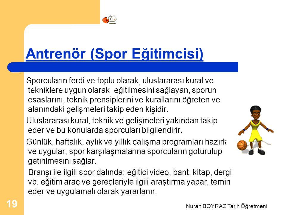 Antrenör (Spor Eğitimcisi)
