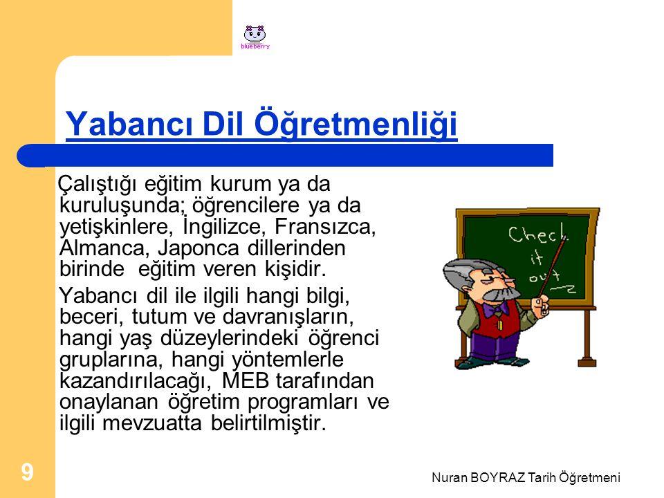 Yabancı Dil Öğretmenliği