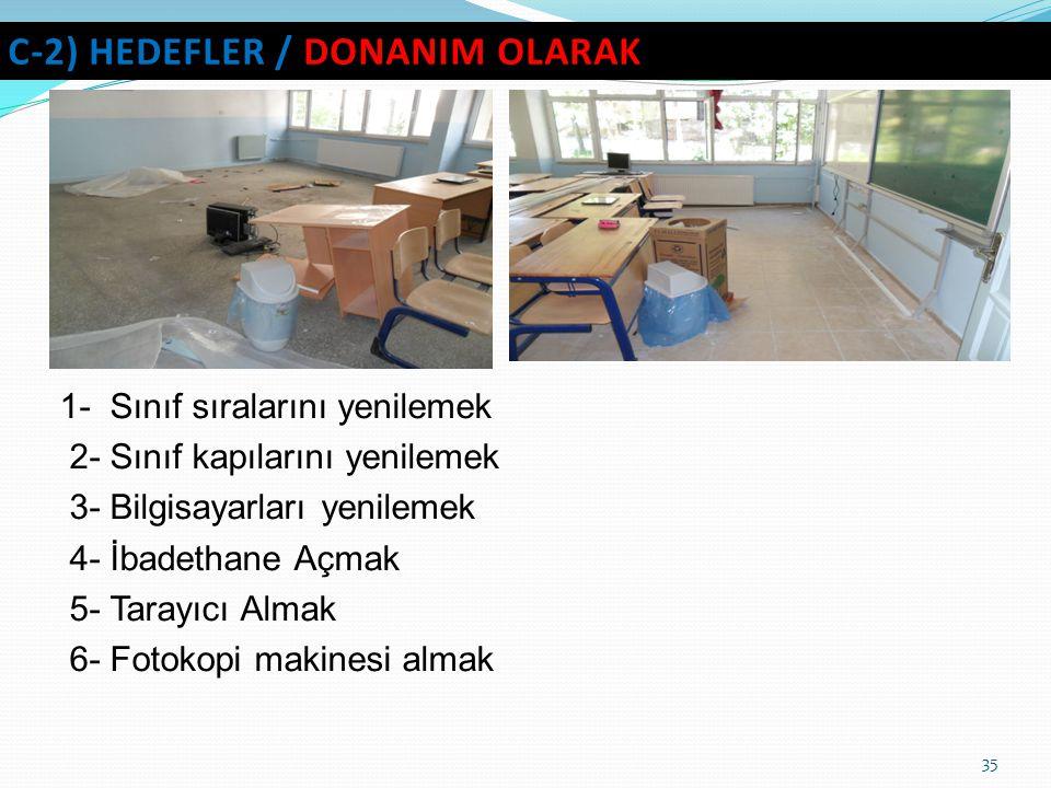 C-2) hedefler / DONANIM OLARAK