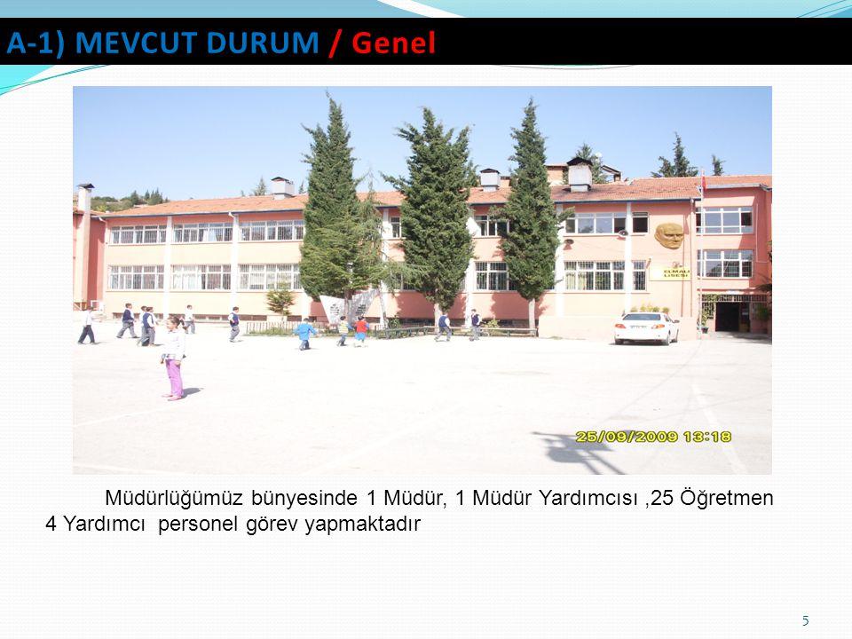A-1) MEVCUT DURUM / Genel