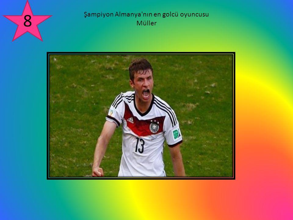 Şampiyon Almanya nın en golcü oyuncusu Müller