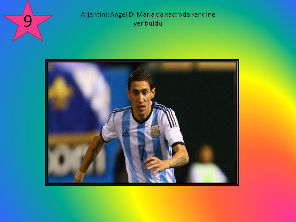 Arjantinli Angel Di Maria da kadroda kendine yer buldu