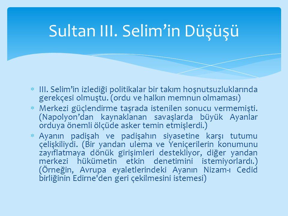 Sultan III. Selim'in Düşüşü