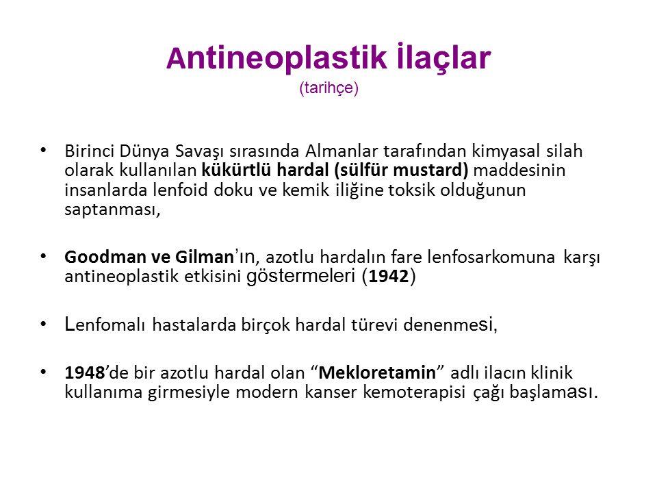 Antineoplastik İlaçlar (tarihçe)