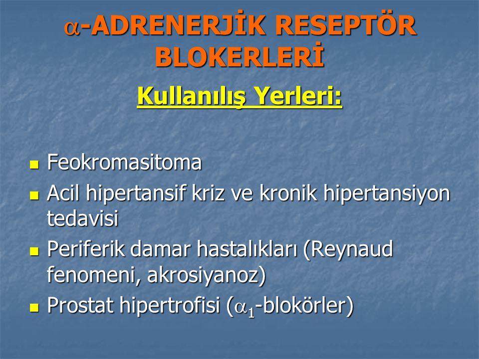 -ADRENERJİK RESEPTÖR BLOKERLERİ