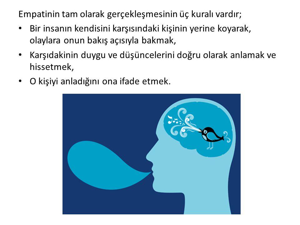 Empatinin tam olarak gerçekleşmesinin üç kuralı vardır;