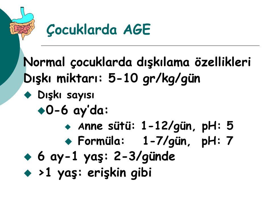 Çocuklarda AGE Normal çocuklarda dışkılama özellikleri