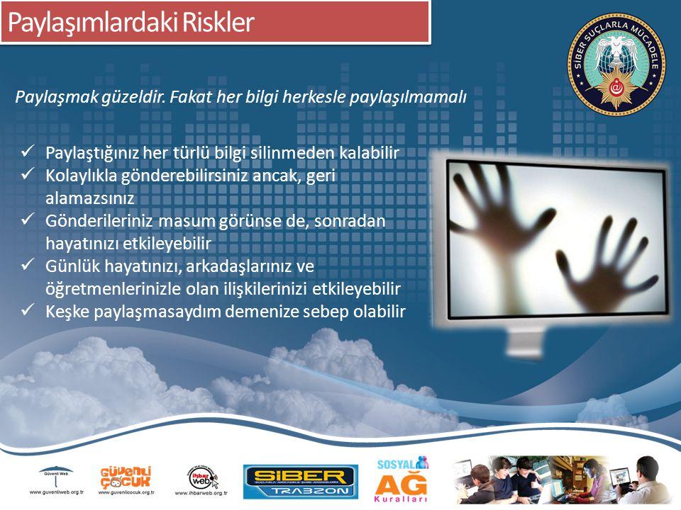 Paylaşımlardaki Riskler