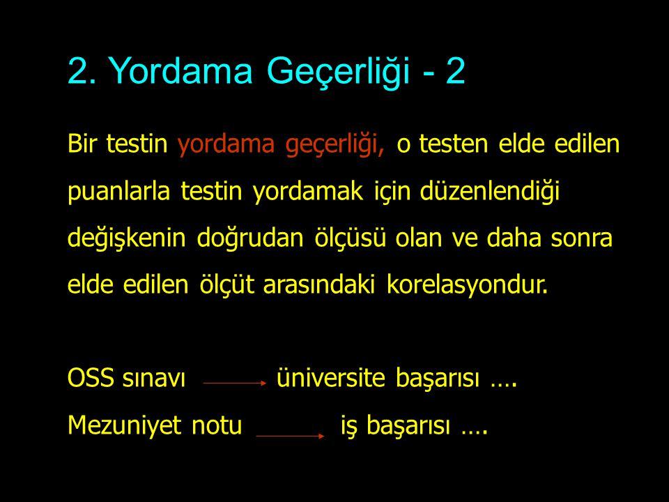 2. Yordama Geçerliği - 2