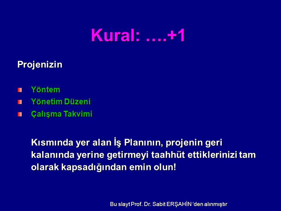 Bu slayt Prof. Dr. Sabit ERŞAHİN 'den alınmıştır