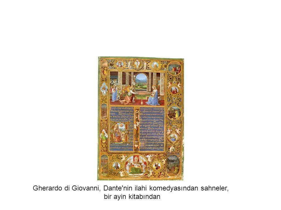 Gherardo di Giovanni, Dante nin ilahi komedyasından sahneler, bir ayin kitabından