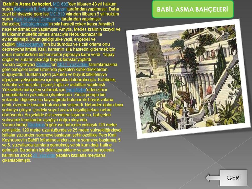 BABİL ASMA BAHÇELERİ GERİ