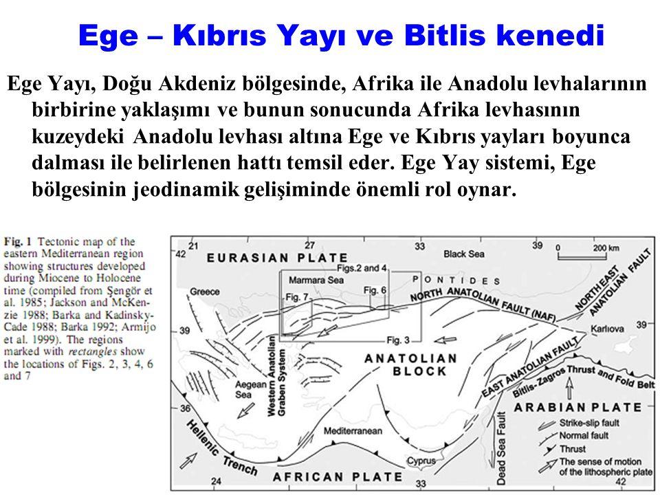 Ege – Kıbrıs Yayı ve Bitlis kenedi