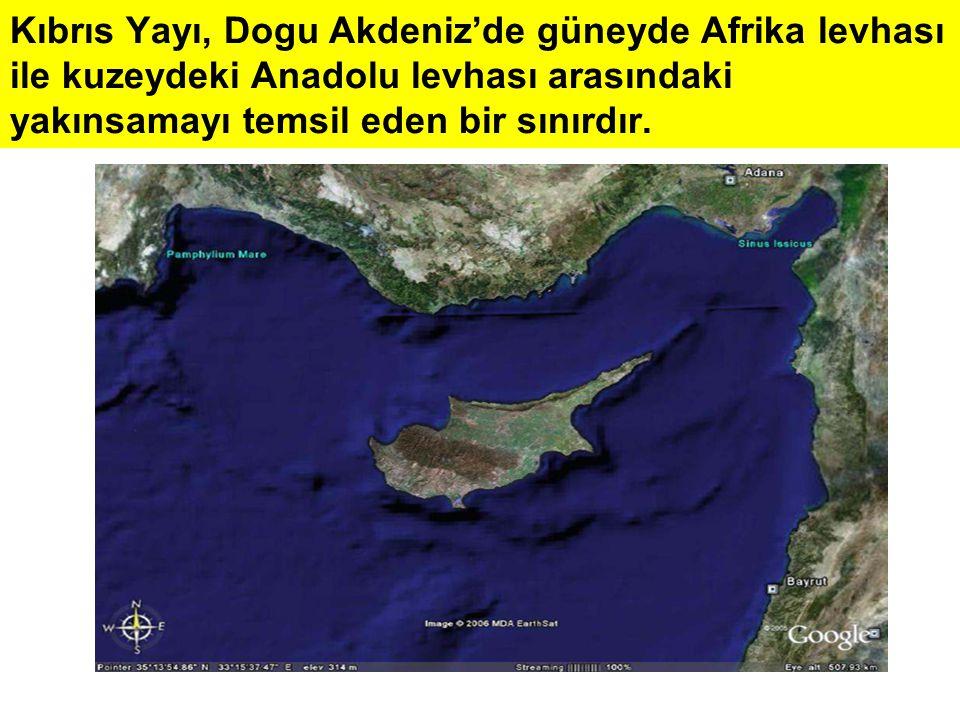 Kıbrıs Yayı, Dogu Akdeniz'de güneyde Afrika levhası ile kuzeydeki Anadolu levhası arasındaki yakınsamayı temsil eden bir sınırdır.