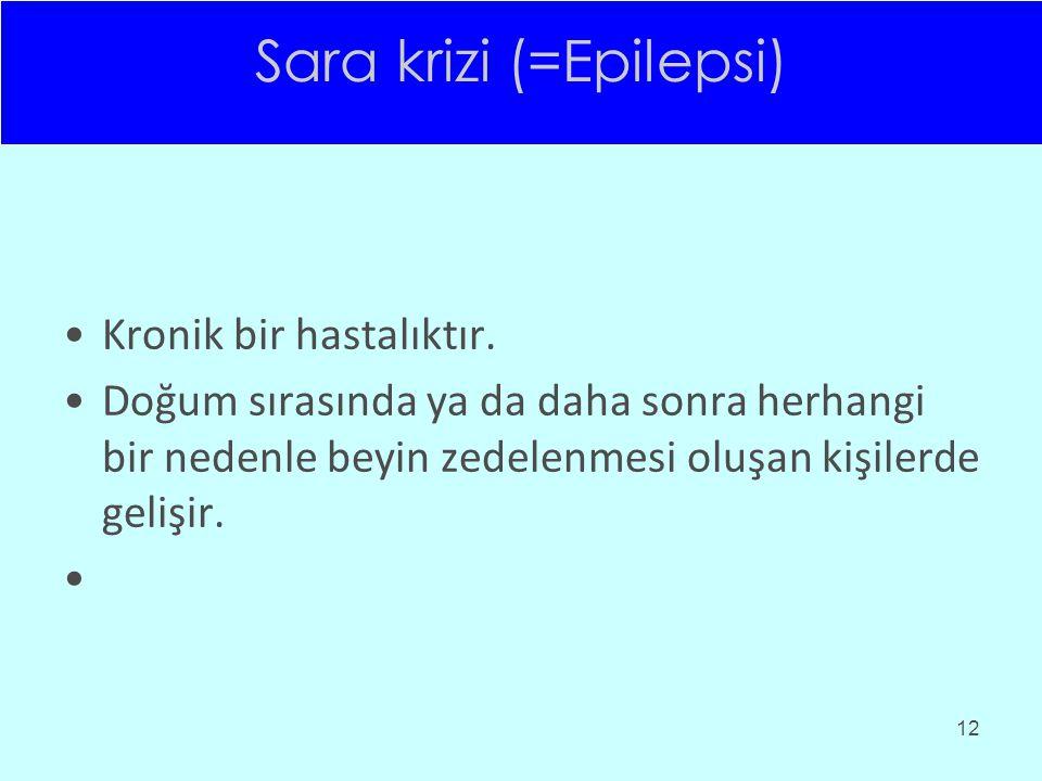 Sara krizi (=Epilepsi)