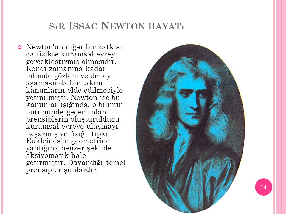 sır Issac Newton hayatı