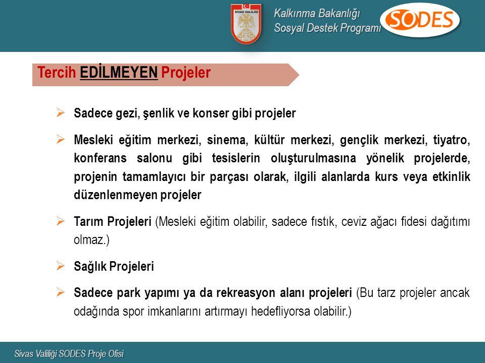 Tercih EDİLMEYEN Projeler