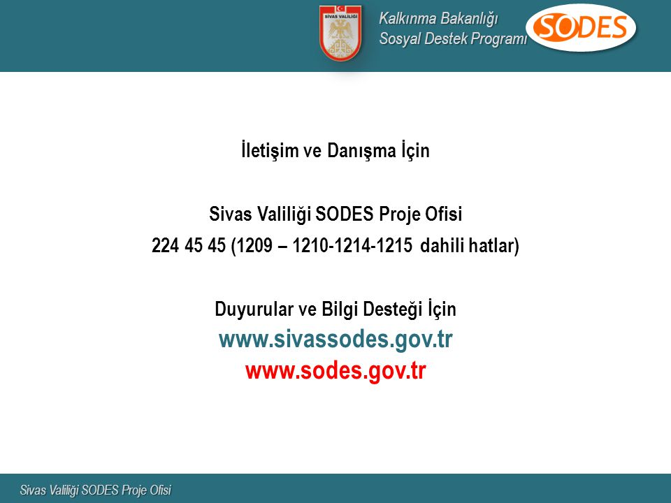 www.sivassodes.gov.tr www.sodes.gov.tr