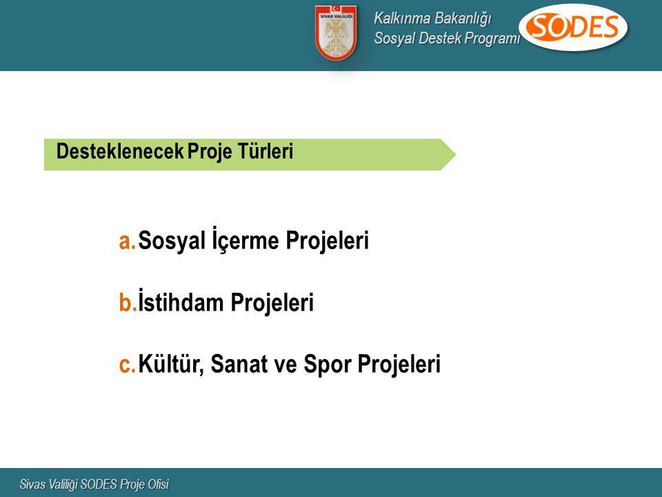 Sosyal İçerme Projeleri İstihdam Projeleri