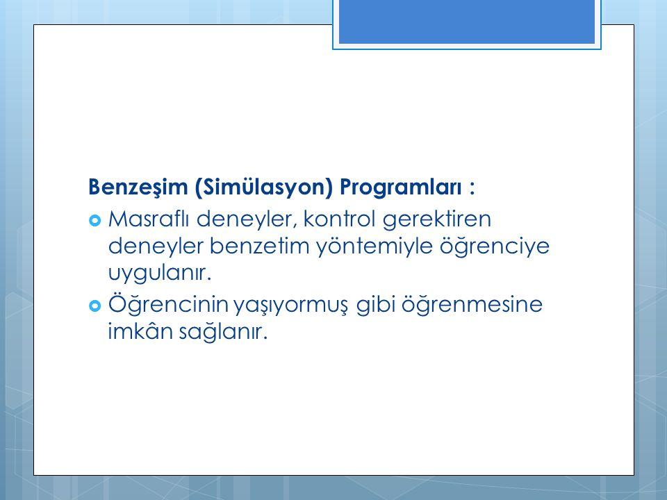 Benzeşim (Simülasyon) Programları :