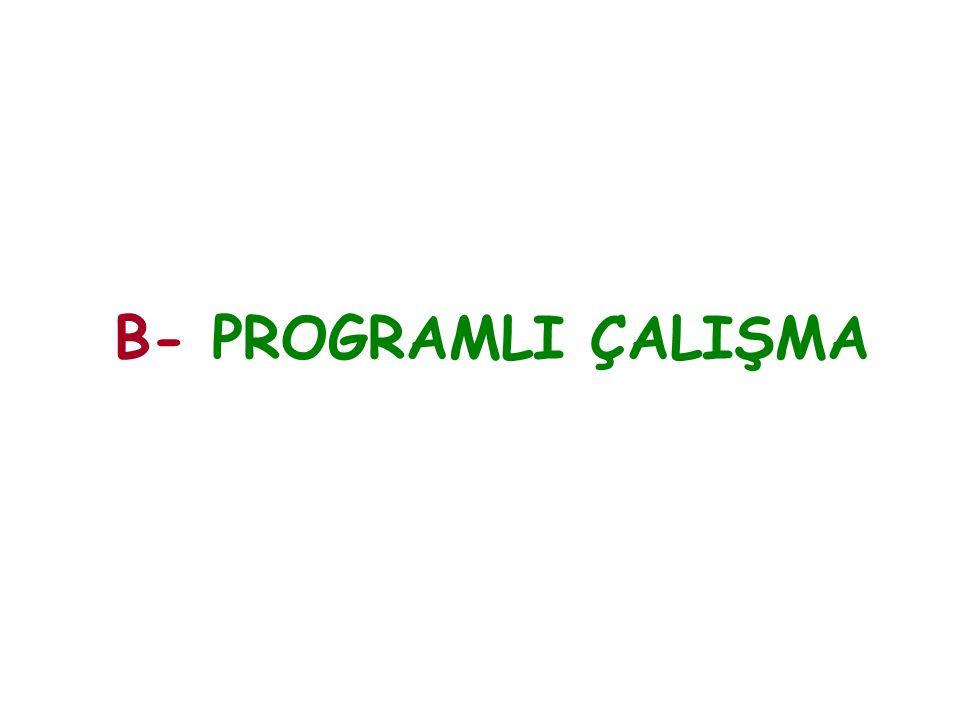 B- PROGRAMLI ÇALIŞMA