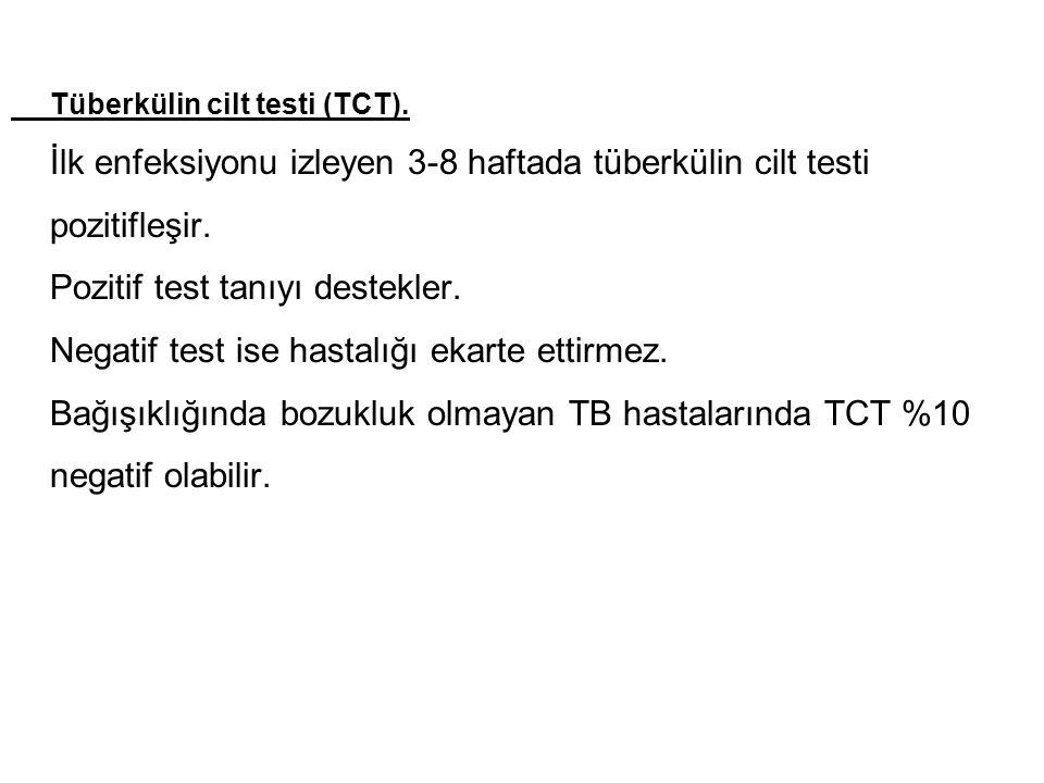 Pozitif test tanıyı destekler.