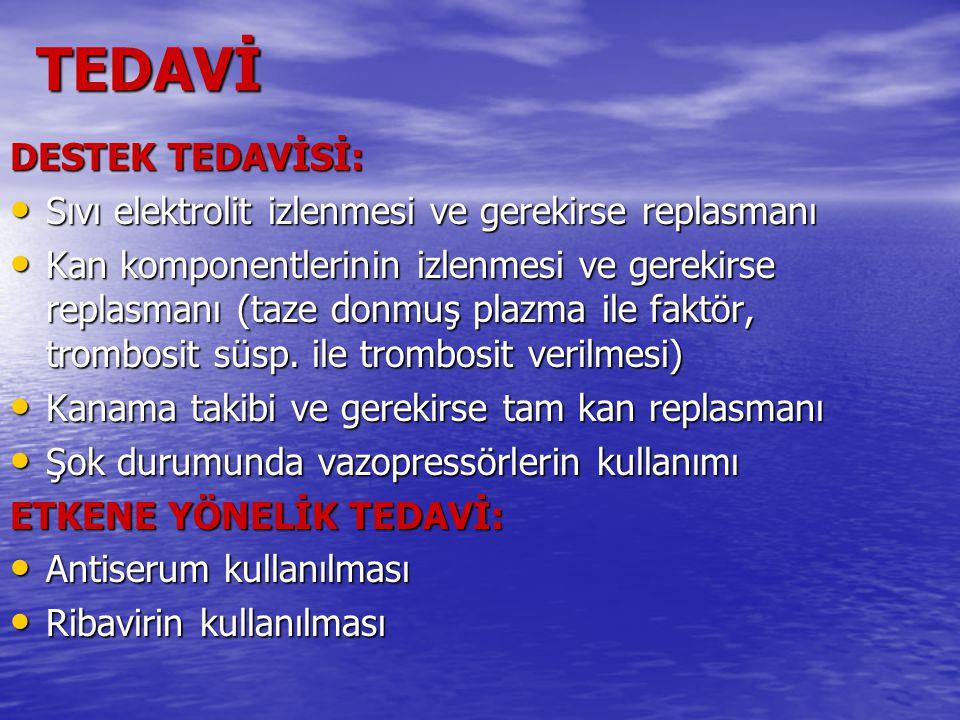 TEDAVİ DESTEK TEDAVİSİ: