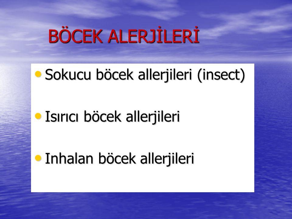 BÖCEK ALERJİLERİ Sokucu böcek allerjileri (insect)