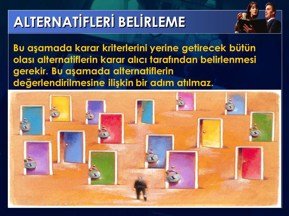 ALTERNATİFLERİ BELİRLEME