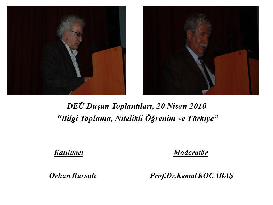 Katılımcı Moderatör DEÜ Düşün Toplantıları, 20 Nisan 2010