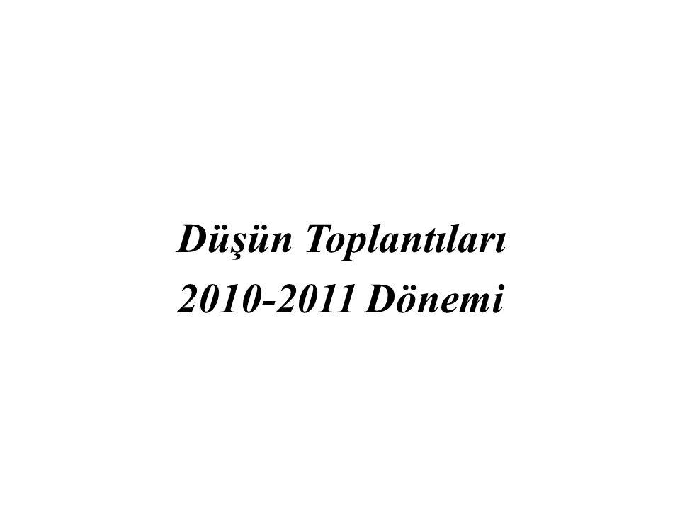 Düşün Toplantıları 2010-2011 Dönemi