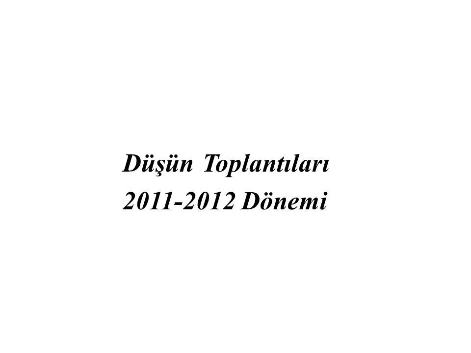 Düşün Toplantıları 2011-2012 Dönemi