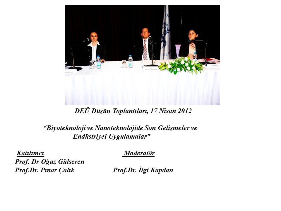 DEÜ Düşün Toplantıları, 17 Nisan 2012