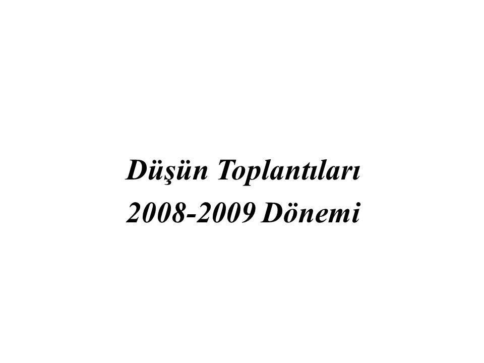 Düşün Toplantıları 2008-2009 Dönemi