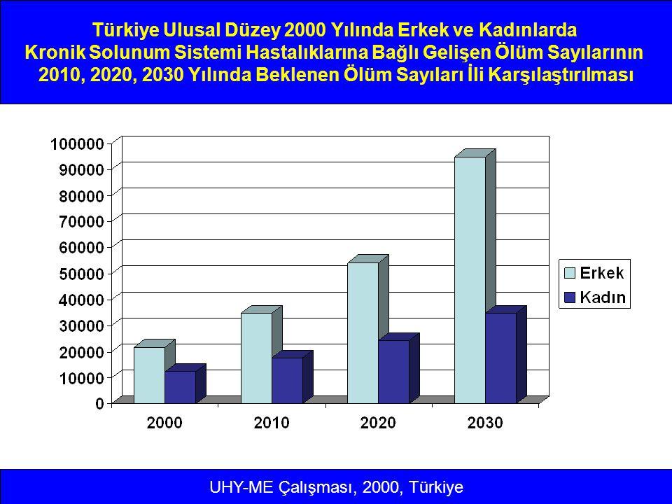 Türkiye Ulusal Düzey 2000 Yılında Erkek ve Kadınlarda