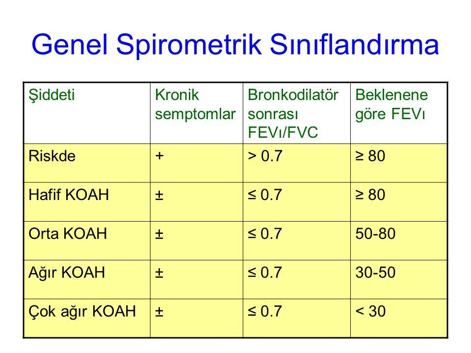 Genel Spirometrik Sınıflandırma