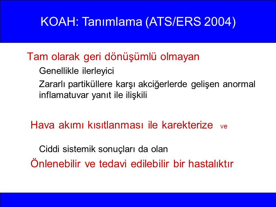KOAH: Tanımlama (ATS/ERS 2004)
