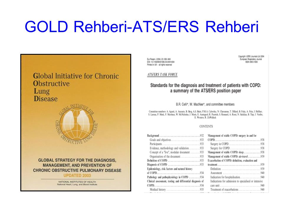 GOLD Rehberi-ATS/ERS Rehberi