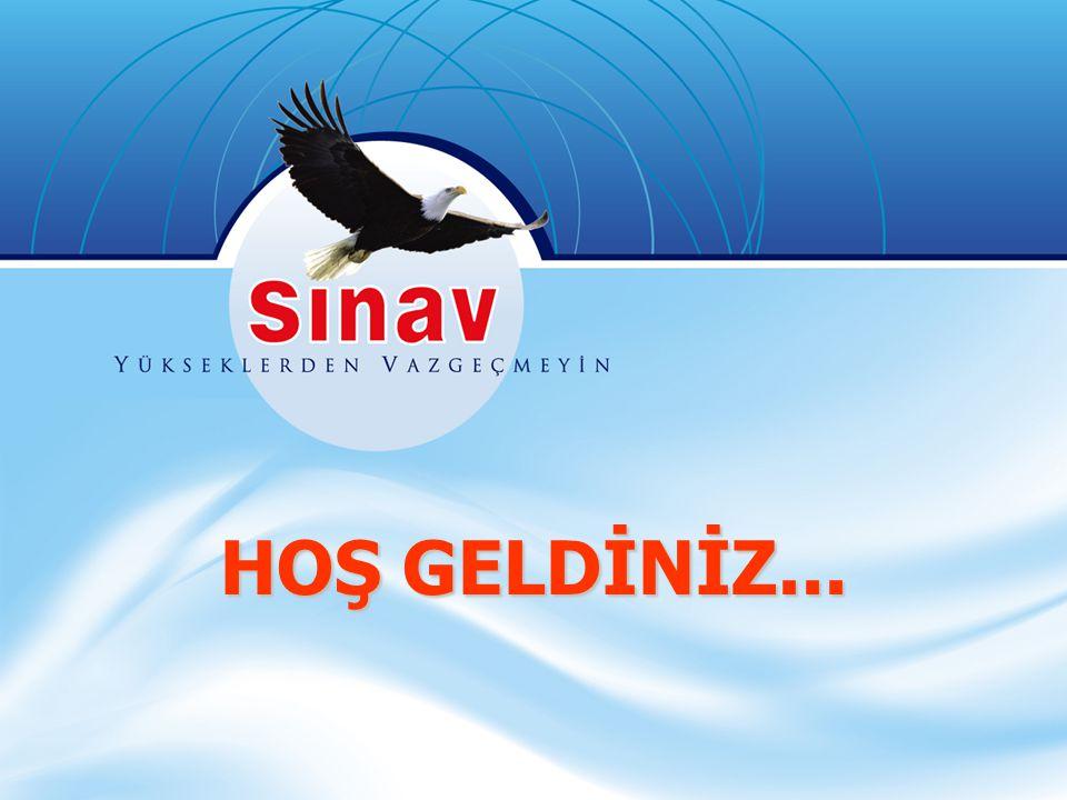 HOŞ GELDİNİZ...