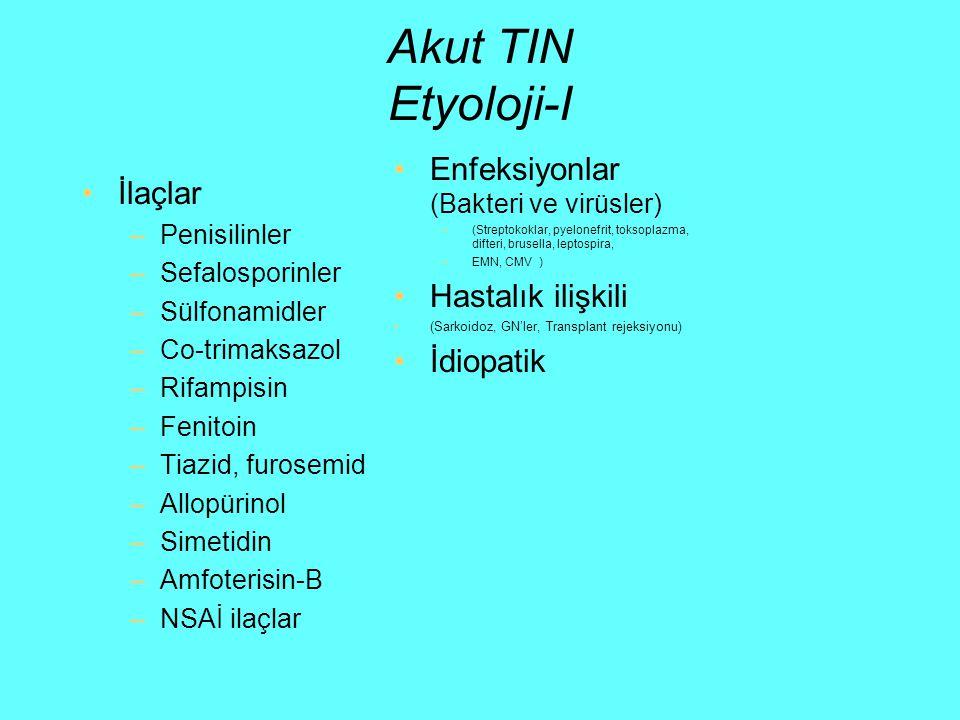 Akut TIN Etyoloji-I Enfeksiyonlar (Bakteri ve virüsler) İlaçlar