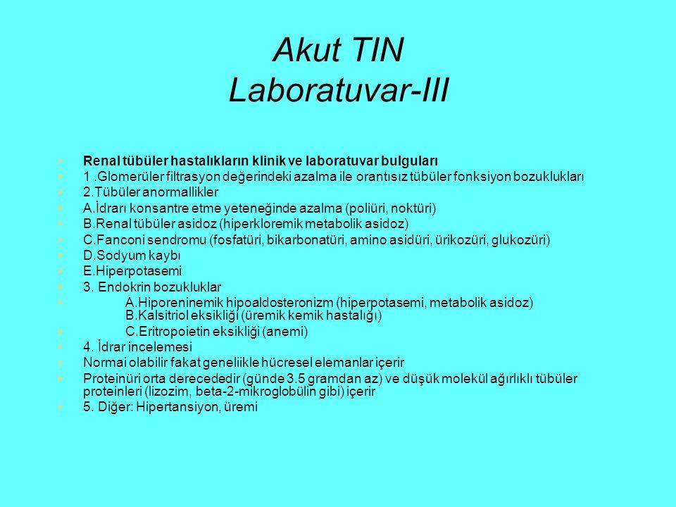 Akut TIN Laboratuvar-III