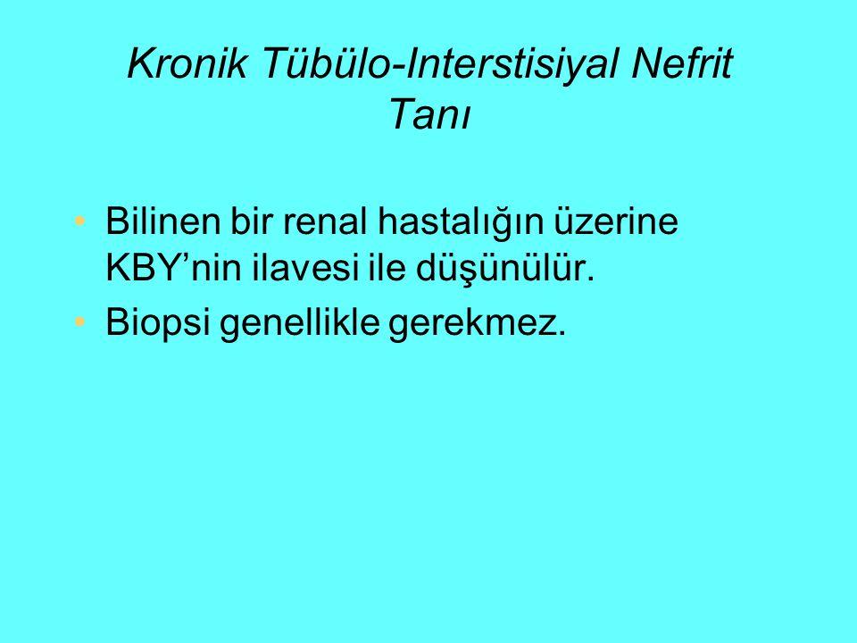 Kronik Tübülo-Interstisiyal Nefrit Tanı