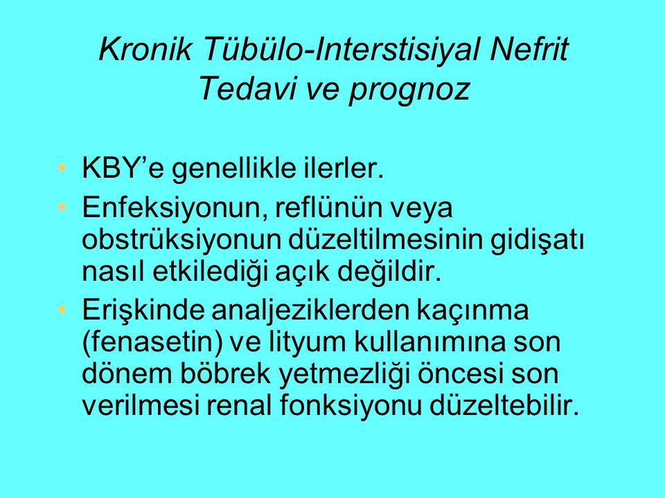 Kronik Tübülo-Interstisiyal Nefrit Tedavi ve prognoz