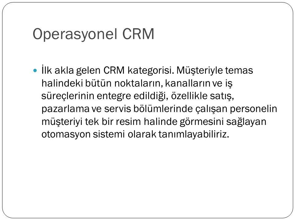 Operasyonel CRM
