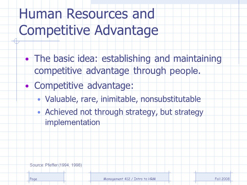Human Resources and Competitive Advantage