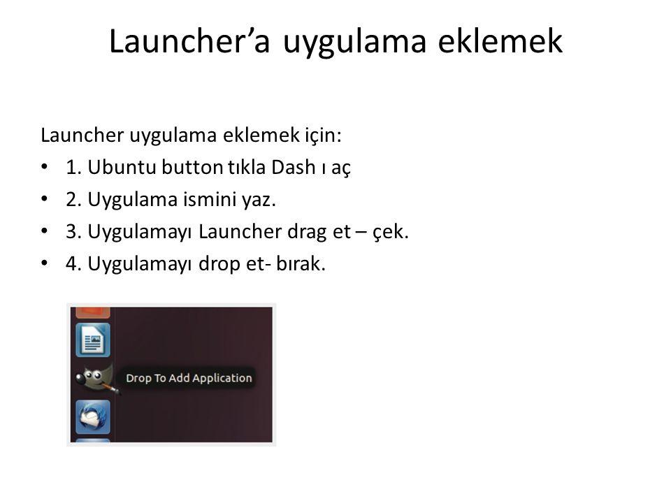 Launcher'a uygulama eklemek