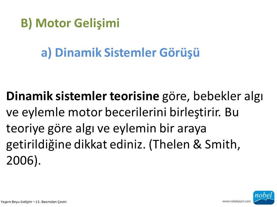 B) Motor Gelişimi a) Dinamik Sistemler Görüşü.