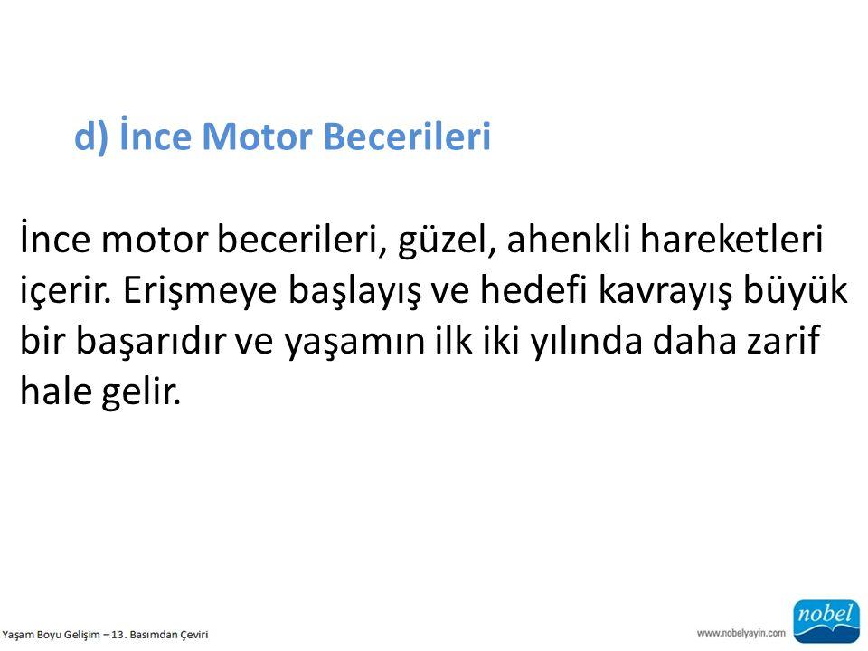 d) İnce Motor Becerileri